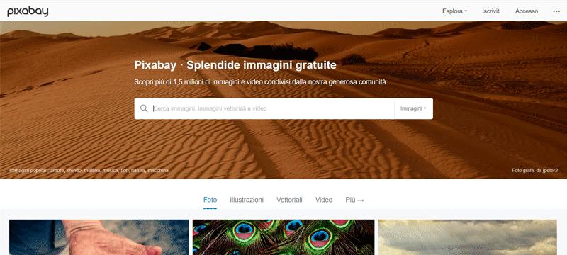 pixabay sito immagini gratuite