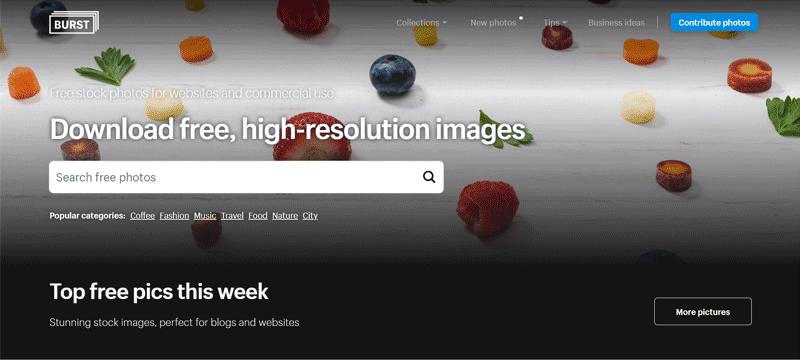 burst sito immagini gratuite