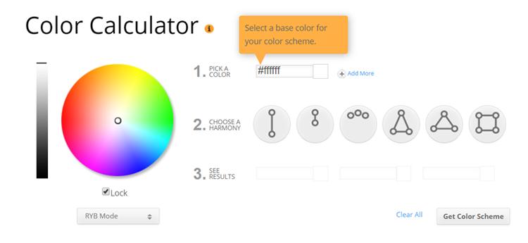 calcolatore colori complementari