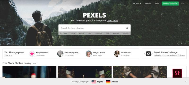 pexels sito immagini gratuite